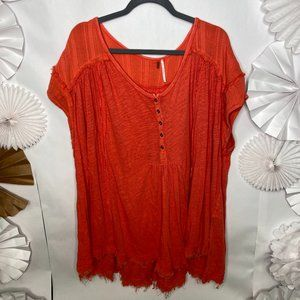 Free People Aster High-Low Henley Top